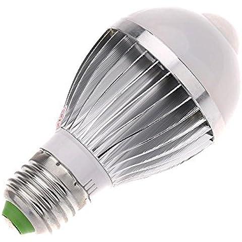 XIE@ E27 5W LED infrarossi PIR movimento umano & sensore