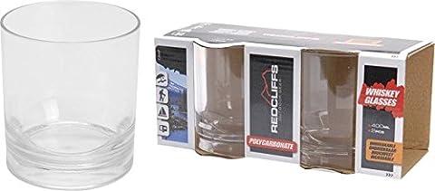 2x 400ml en polycarbonate incassable verres à whisky Verres