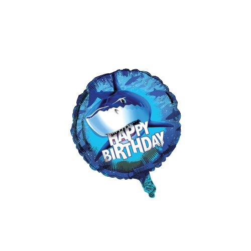 Unbekannt Creative Converting Shark Splash Metallic Ballon, 18 (Birthday Banner Nemo)