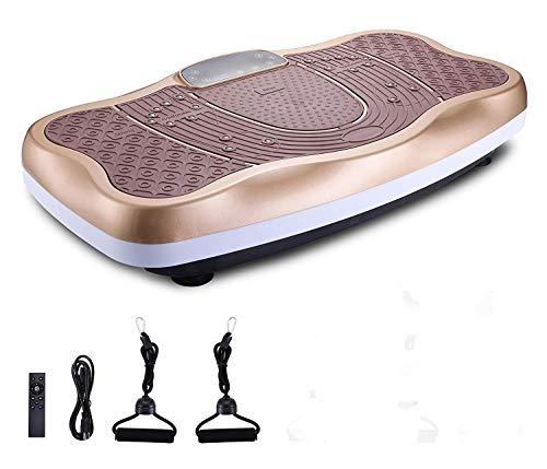 GLXLSBZ Fitness Vibrationsgerät, Trainer Vibration Power Plates Oszillierende Plattform Ganzkörperschüttelmassagegerät - Fernbedienung/Bluetooth Musik/USB-verbindung
