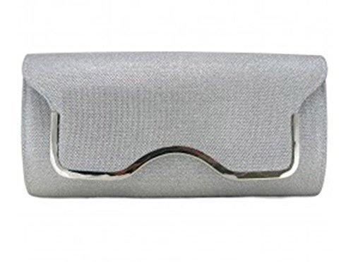 Other , Damen Clutch Rot rot silber