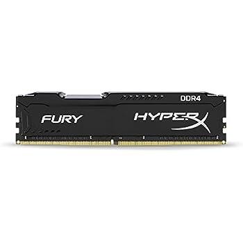 8 GB, DDR4, 2666 MHz, PC//server, 288-pin DIMM, 1 x 8 GB Memoria HyperX FURY Memory Black 2666MHz 8GB DDR4 2666MHz m/ódulo de