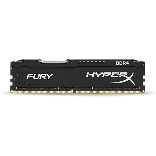 HyperX Fury Memory Black 16GB DDR4 2666MHz 8GB DDR4 2666MHz módulo de - Memoria (8 GB, DDR4, 2666 MHz, PC/Server, 288-pin DIMM, 1 x 8 GB)