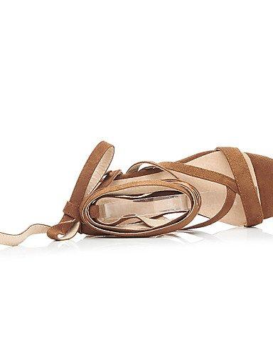 LFNLYX Chaussures Femme-Habillé / Décontracté / Soirée & Evénement-Noir / Jaune-Gros Talon-A Bride Arrière / Bout Ouvert / Bride de Cheville- Black