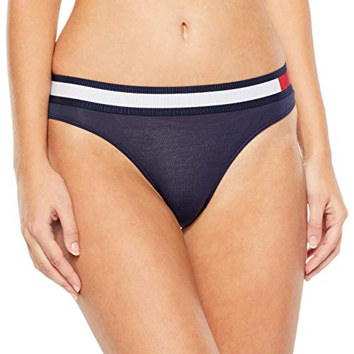 Tommy Hilfiger Damen Bikini Taillenslip, Blau (Navy Blazer 416), No Aplica (Herstellergröße: SM) -