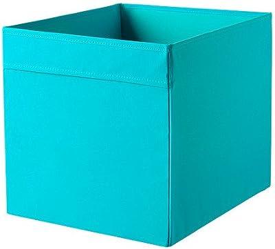 Caja de almacenaje Ikea drona losas 33 x 38 x 33 cm (W x D x H) color rojo para Expedit, Besta y otros