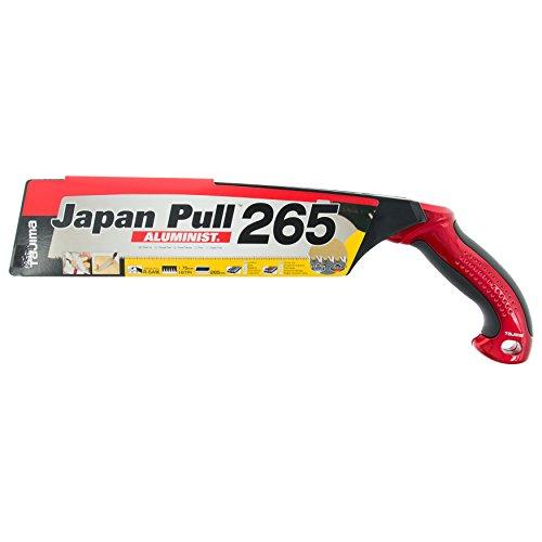 Tajima JPR265A Aluminist Scie Japonaise de précision 265 mm, Noir/Argent