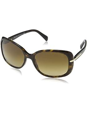 Prada occhiali da sole quadrati senza tempo in nero PR 08OS 1AB0A7 57