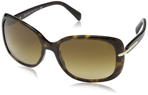 Prada Damen 0PR08OS 2AU6S1 57 Sonnenbrille, Havana/Brown Gradient
