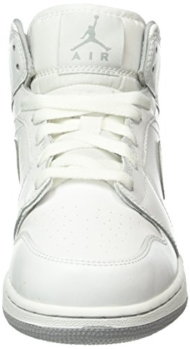 Nike Bambino Jordan 1 Mid (BG) Scarpe da Basket Multicolore (Blanco / Gris (White / White-Wolf Grey)) Salida Descuento De La Separación Grande Nuevos Estilos Para La Venta Más Reciente En Línea Barata Comprar Barato Con Tarjeta De Crédito JGgb9