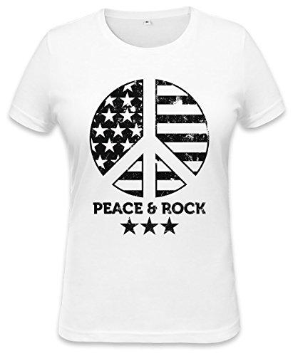 Peace And Rock Womens T-shirt XX-Large (Womens Shirt 1960 Hippie)