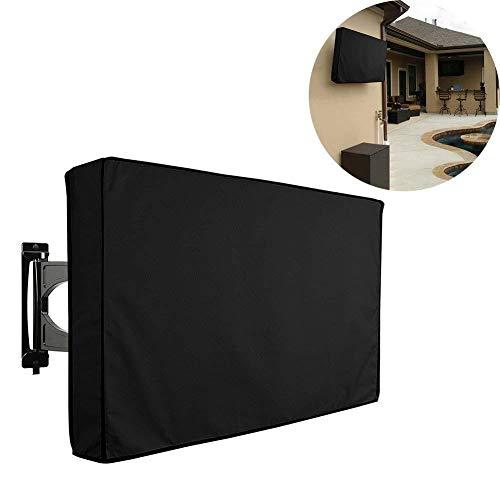 QINAIDI TV-Außenabdeckung, wetterfester Universalschutz für LCD-, LED- und Plasma-Fernsehbildschirme, mit unterer Abdeckung,22to24inches (Wetterfester Abdeckung)