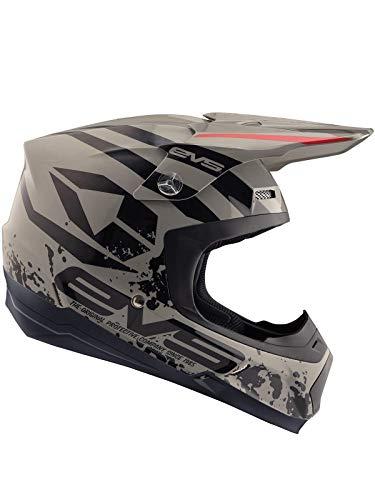EVS Grau 2018 T5 Grappler Mx Helm (Medium, Grau) (Evs Helm)