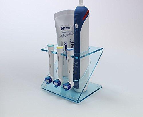 Ständer für elektrische Zahnbürste, für 3x Bürstenköpfe (in verschiedenen Farben erhältlich) Light Blue Tint