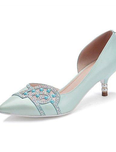WSS 2016 Chaussures Femme-Bureau & Travail / Décontracté-Bleu / Rose-Talon Aiguille-Talons / Bout Pointu-Chaussures à Talons-Cuir blue-us8 / eu39 / uk6 / cn39