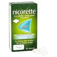 Nicorette Icy White Gum 2 mg, 25 Pieces
