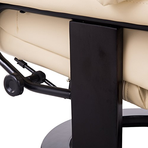 Homcom Massagesessel 700-008CW mit Heizfunktion inkl. Hocker Creme - 7