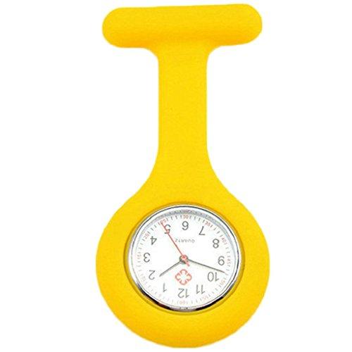 ZHOUBA, bell'orologio da infermiere a spilla in silicone, movimento al quarzo, orologio da taschino