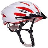 HUDORA Fahrrad-Helm Basalt Damen Herren, Fahrrad-Helm Rad-Helm Gr. 49-63, weiß/Orange