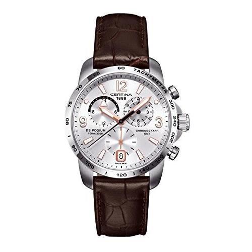 Certina Herren-Armbanduhr XL Chronograph Quarz Leder C001.639.16.037.01