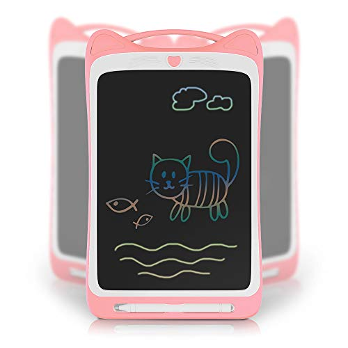Richgv LCD Writing Tablet Zeichentafel Schreibtafel Drawing Pad Malen Board (11 Zoll, Kätzchen, Bunte, Rosa) - Tablet Sketch Pad