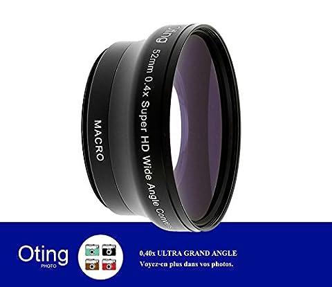 67MM 0,4x Objectif ultra grand angle OTING avec macro pour CANON (18-135mm EF-S IS STM, EF 70-200mm f/4L), NIKON (18-105mm f/3.5-5.6 AF-S DX VR ED Nikkor, 70-300mm