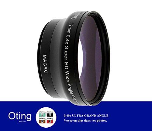 0,4x Objectif ultra grand angle OTING avec MACRO en 52mm / livré avec une adaptation 67mm-52mm / pour CANON (18-135mm EF-S IS STM, EF 70-200mm f/4L), NIKON (18-105mm f/3.5-5.6 AF-S DX VR ED Nikkor, 70-300mm f/4.5-5.6G)