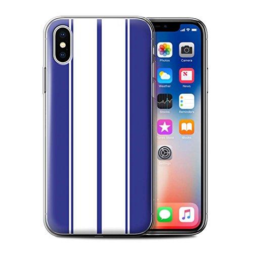 Stuff4 Gel TPU Hülle / Case für Apple iPhone 7 / Amerikanisch Muster / Rennwagen Streifen Kollektion Shelby/Blau