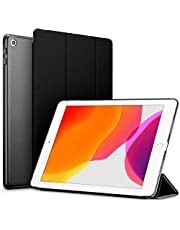 Robustrion Smart Trifold Hard Back Flip Stand Case Cover for iPad 10.2 Cover iPad 7th Generation Case 2019 - Black