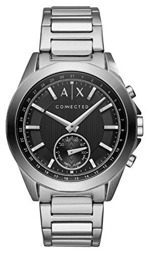 Armani Exchange Homme Analogique Quartz Montre avec Bracelet en Acier Inoxydable AXT1006