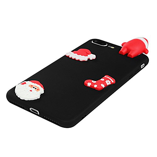 iPhone 7 Plus / iPhone 8 Plus Coque Mavis's Diary Étui Housse TPU Silicone Gel Coque de Protection Phone Case Cover Antichoc 3D Protection écran 5.5'' pour iPhone 7 Plus / iPhone 8 Plus Ultra Fine Lég Noël 5