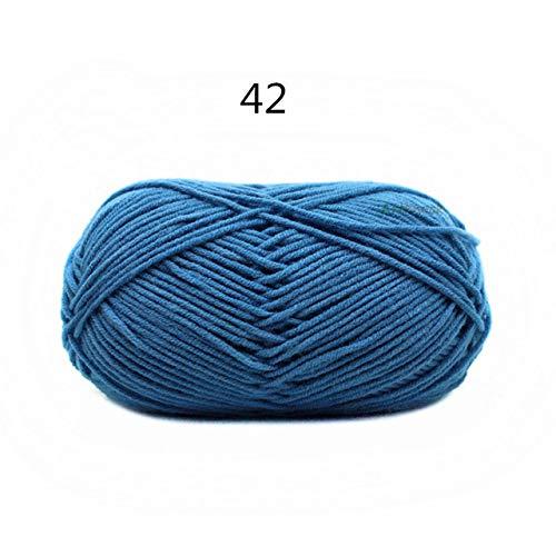 Shoppy étoile 1pièce = 50grams Fine Fil Tricot Crochet Coton Aiguille 3 mm à la Main à Tricoter 4 Plis Fil Chaud : 42
