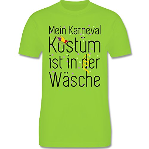 Karneval & Fasching - Mein Karneval Kostüm ist in der Wäsche - Herren Premium T-Shirt Hellgrün