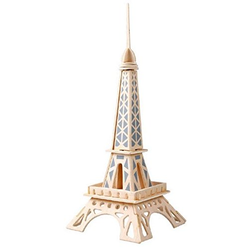 Innova® - Puzzle de Madera 3D con diseño de Torre Eiffel para modelar, Juguete de Madera
