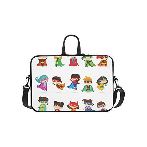 Nette Superheld Kinder Muster Aktentasche Laptoptasche Messenger Schulter Arbeitstasche Crossbody Handtasche Für Geschäftsreisen