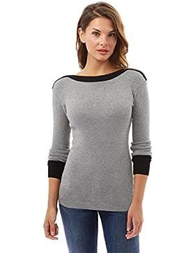 Camisas Mujer Blusas Sueltas Camiseta Manga Larga Camiseta Color Doble
