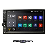 ‏‪hizpo Double Din Car Stereo Android 9.0 in Dash 7 Inch Touch Screen Car Radio GPS Navigation Support for Steering Wheel Control WiFi Bluetooth Audio Video Player RDS+ OBD2 DVR Supply Rear Camera‬‏