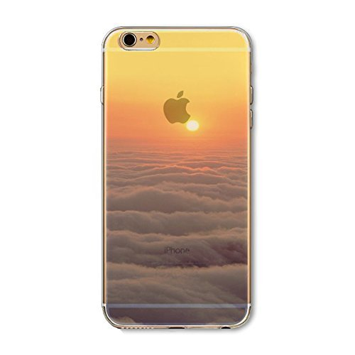 Coque iPhone 6 6s Housse étui-Case Transparent Liquid Crystal en TPU Silicone Clair,Protection Ultra Mince Premium,Coque Prime pour iPhone 6 6s-Paysage-style 6 9
