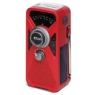 American Red Cross FRX2 Hand Turbine AM/FM Weather Radio with Smartphone Charger - Red (ARCFRX2WXR)