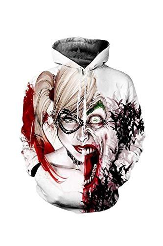 Nimpansa Women Men Matching Hoodies Joker Print Pullover Daily Sweatshirts