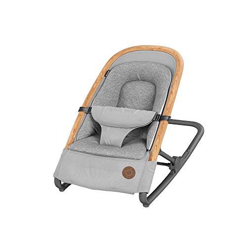 Maxi-Cosi 2835050110 Kori 2-in-1 Babywippe, hochwertige Schaukelliege nutzbar ab der Geburt bis maximal 9 kg (0M+), essential grau