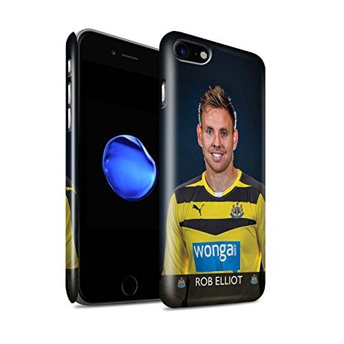 Officiel Newcastle United FC Coque / Clipser Brillant Etui pour Apple iPhone 7 / Elliot Design / NUFC Joueur Football 15/16 Collection Elliot