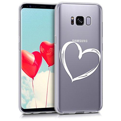 kwmobile Samsung Galaxy S8 Hülle - Handyhülle für Samsung Galaxy S8 - Handy Case in Weiß Transparent