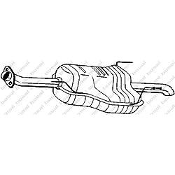 Bosal 185-459 Endschalldämpfer