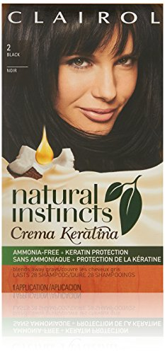 Clairol Natural Instincts Cream Keratina Hair Color 2 Espresso Creme Kit, Black by Clairol