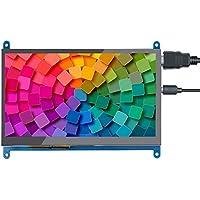 Aibecy Pantalla táctil capacitiva HD de 10 pulgadas Pantalla portátil pequeña de resolución 1024*600 con interfaz USB HD compatible con Raspberry Pi