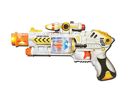 Jiada Flashing Lights Gun Toy for Kids with Sound and Music