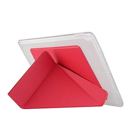 iPad Pro 10.5 Hülle, HZSSEC Origami Clever Rotierend Stand Cover Case Schutzhülle Tasche mit Auto Schlaf / Wach Funktion, Weich TPU Zurück Abdeckung für iPad Pro 10,5 Zoll Display 2017 Neue Modell, Hot Pink