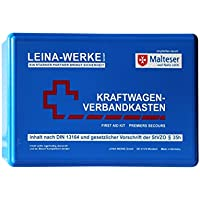 Leina Werke 10006 KFZ-Verbandkasten Standard, Blau/Weiß/Rot preisvergleich bei billige-tabletten.eu