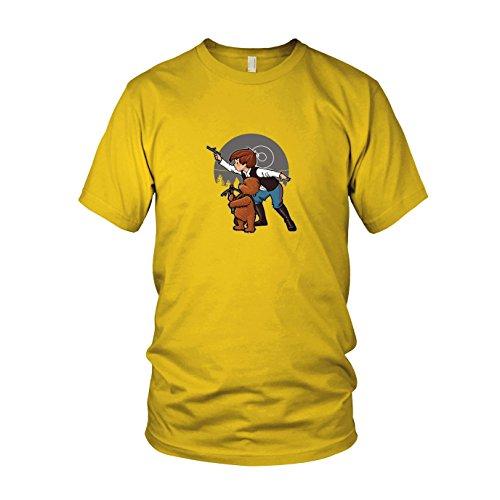 SW: Poo Solo - Herren T-Shirt, Größe: XXL, Farbe: gelb